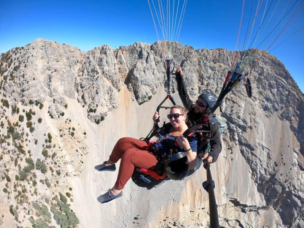 Oludeniz paragliding, floating through the air