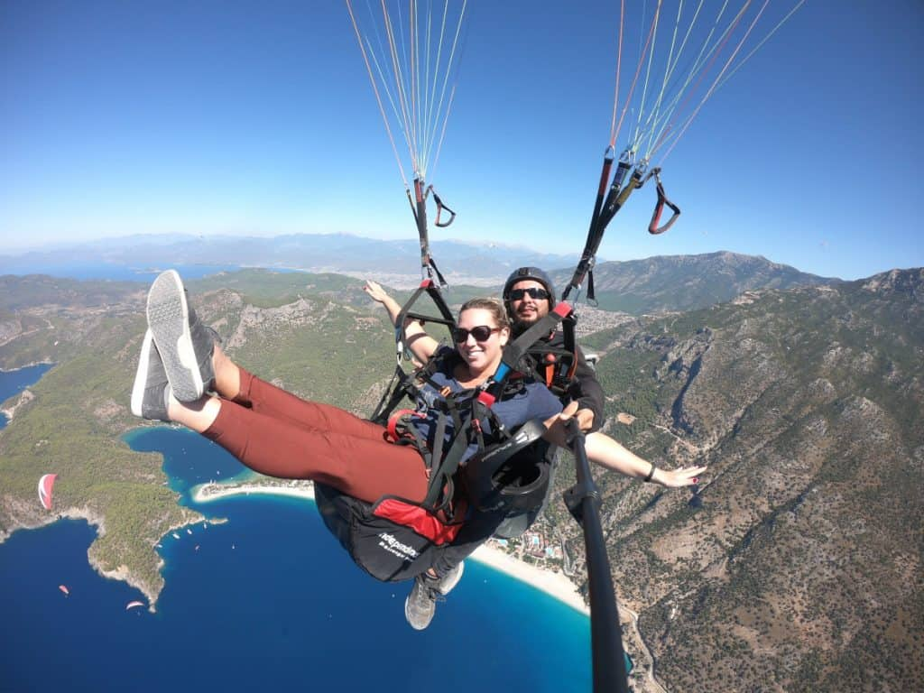 Living my best life paragliding in Turkey...over beautiful Oludeniz