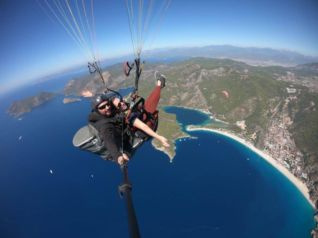 Amazing views of the Blue Lagoon & Oludeniz Beach - paragliding in Turkey