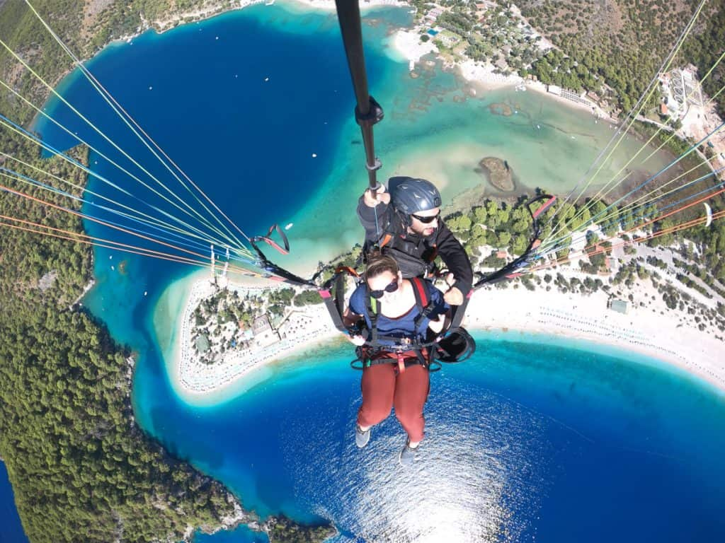 Gorgeous paragliding over the Blue Lagoon in Oludeniz