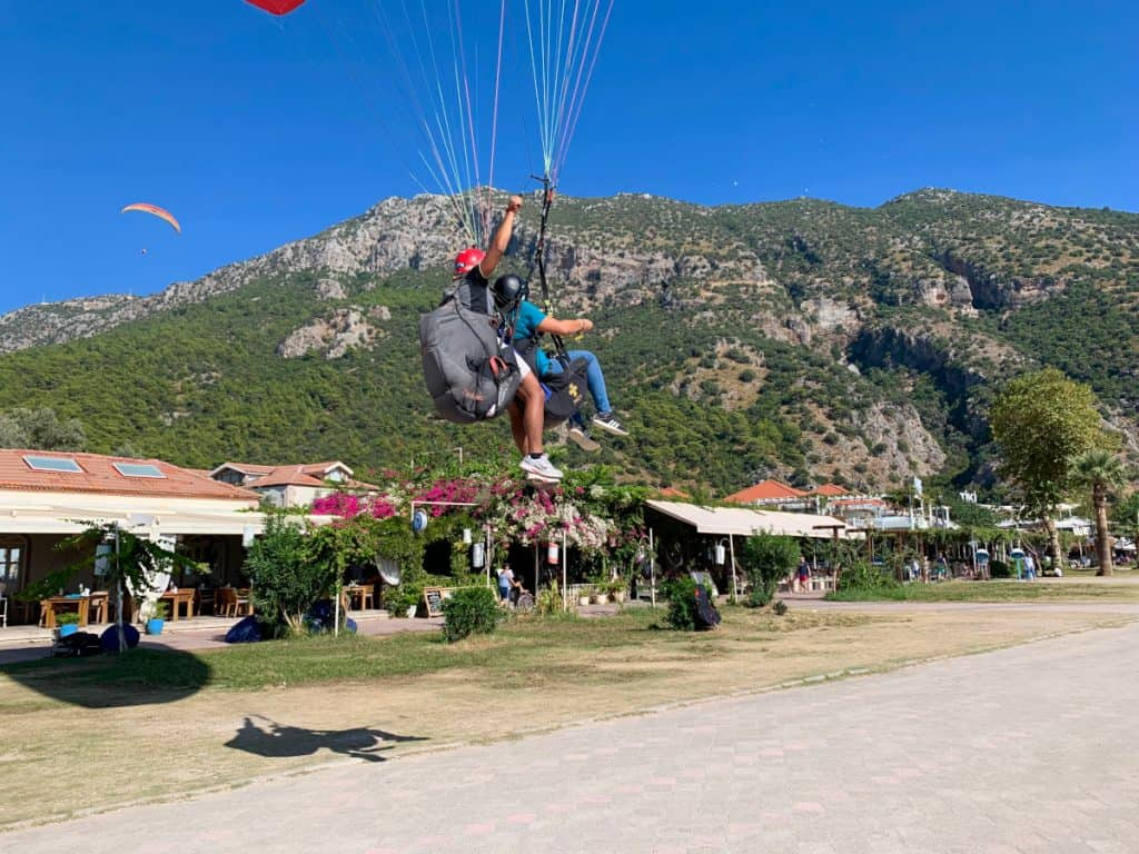 Paragliding in Turkey, landing over Oludeniz