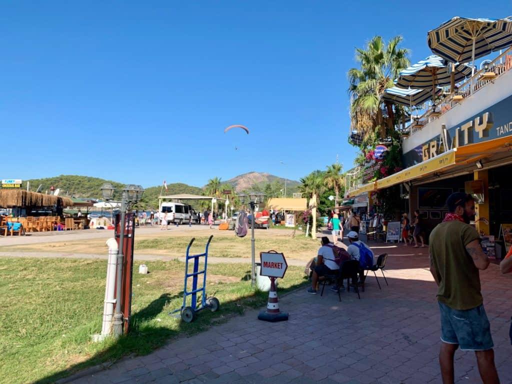 Oludeniz paragliding, Deep Blue Travel's office on the boardwalk