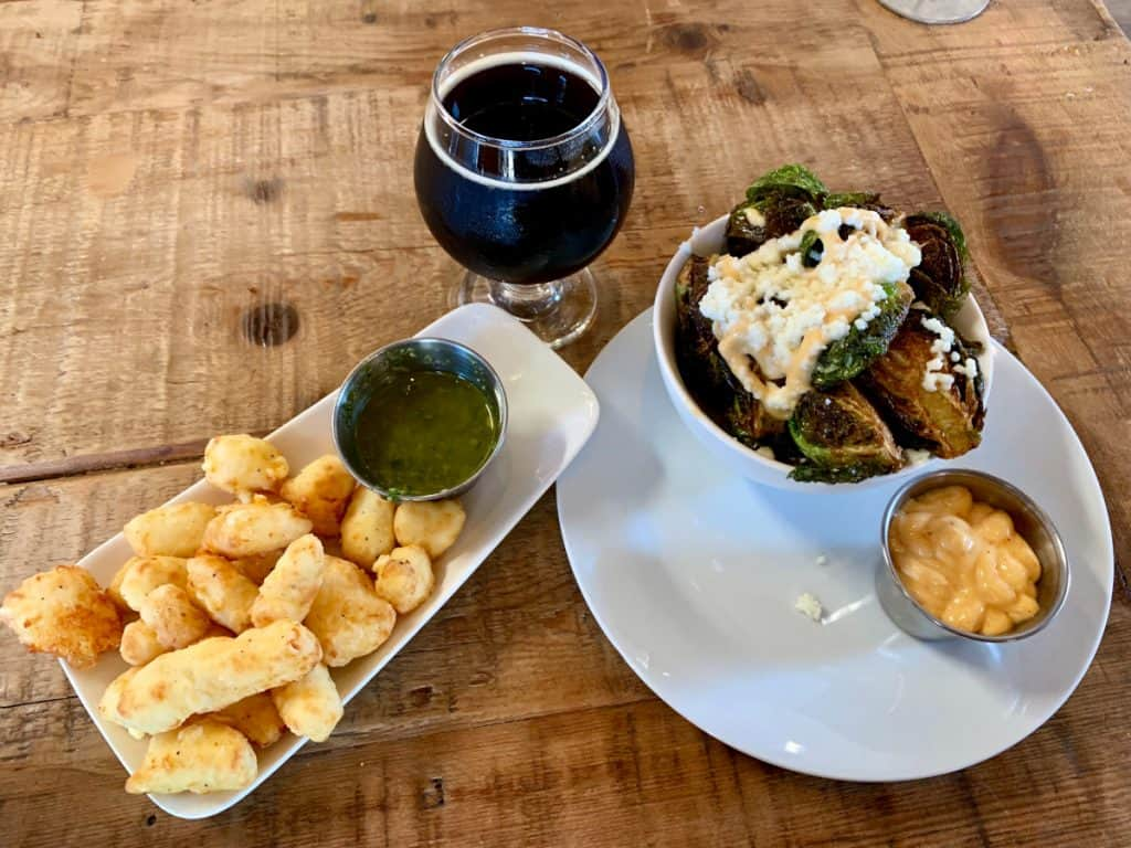 Delicious food and drink at Woodfour Brewing - Sonoma County breweries