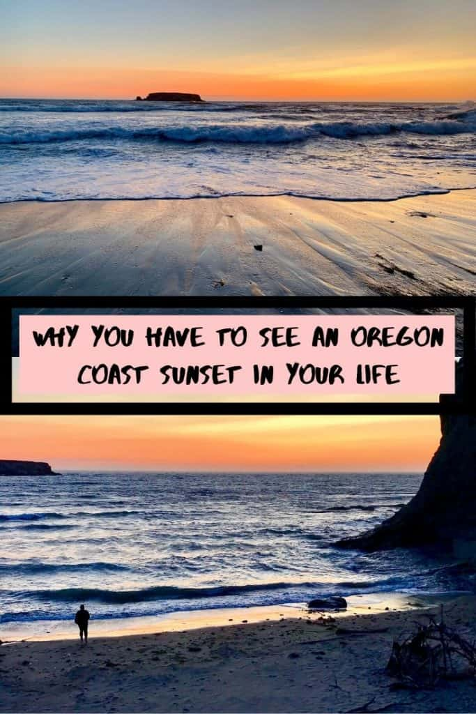 Why You Have to Experience an Oregon Coast Sunset | All sunsets are special but the ones you can experience on the coast of Oregon are particularly mindblowing. Some photos for inspiration and to convince you to book to visit right now! #oregoncoast #sunset #westcoast