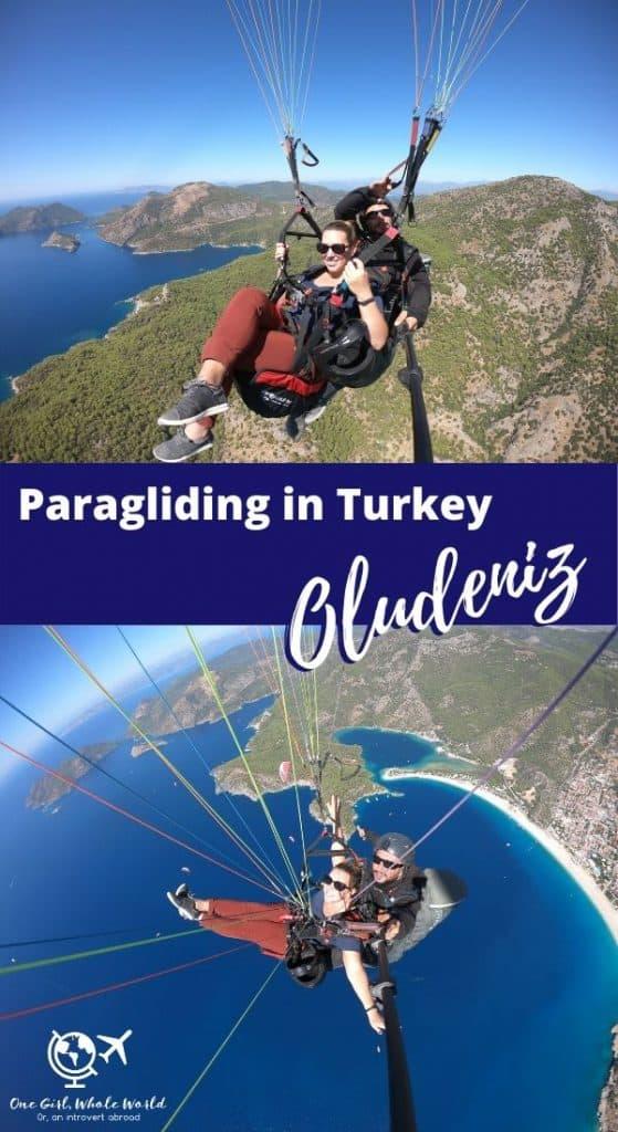 Paragliding in Turkey, Oludeniz - Pinterest image