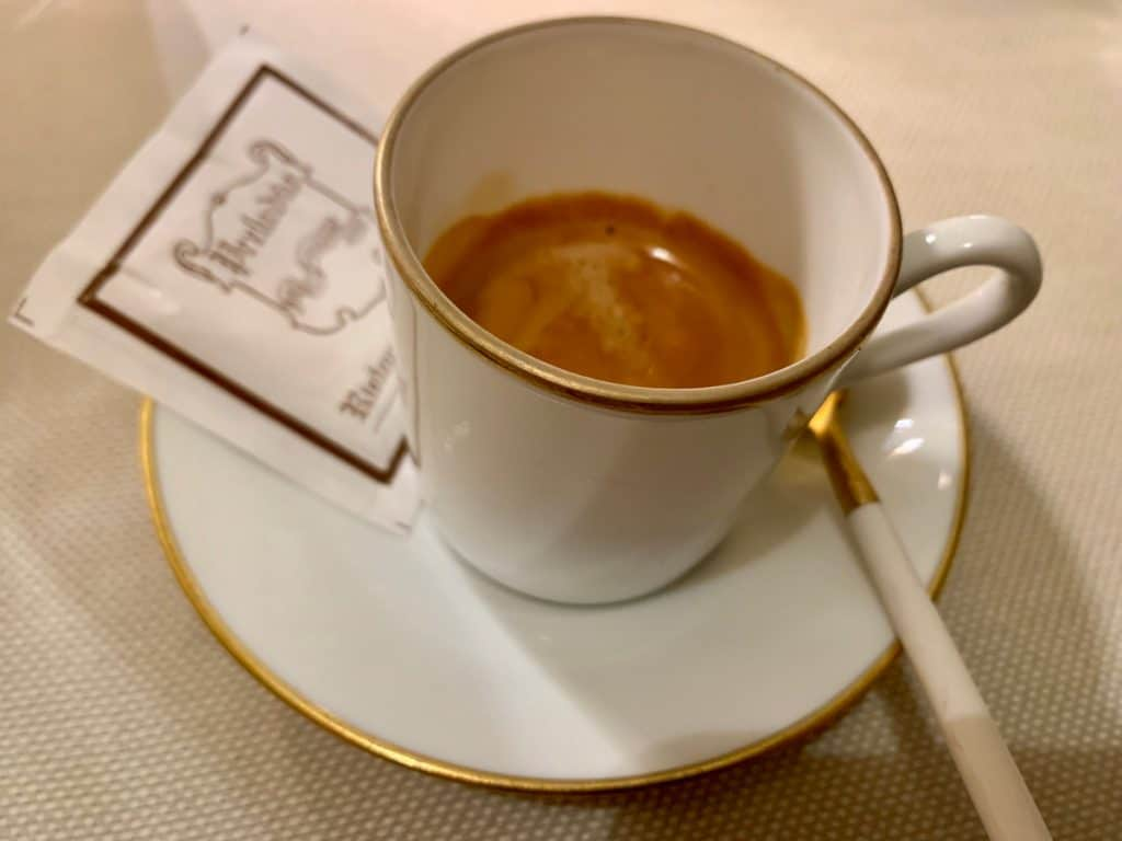 An espresso after dinner - Italian coffee culture tips