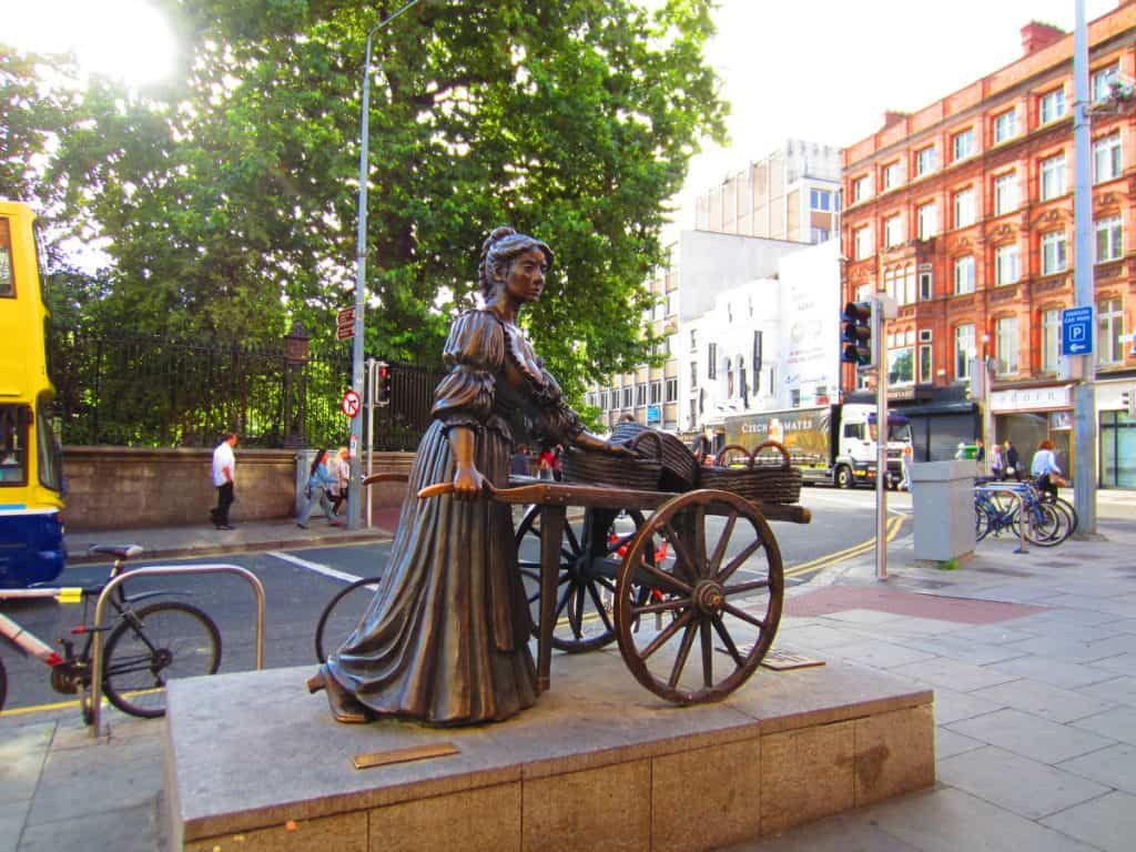The well-known statue of Molly Malone - 2 days in Dublin