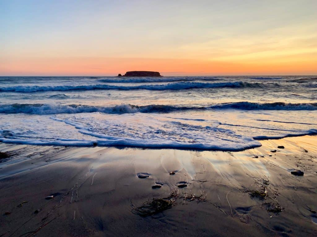 Getting blown away by an Oregon coast sunset
