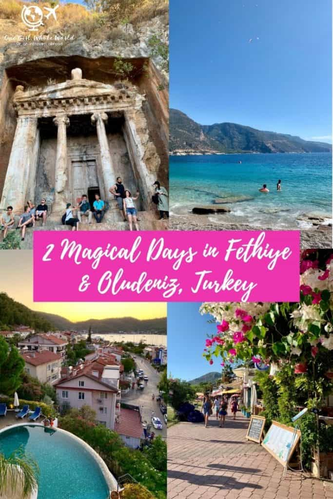 A Magical Weekend in Fethiye & Oludeniz, Turkey | This beautiful area on Turkey's Turquoise Coast is a must-visit! What to do in Fethiye, how to do an Oludeniz day trip, paragliding, beaches, the Blue Lagoon, & more! #turkey #beach #fethiye #oludeniz #turquoisecoast