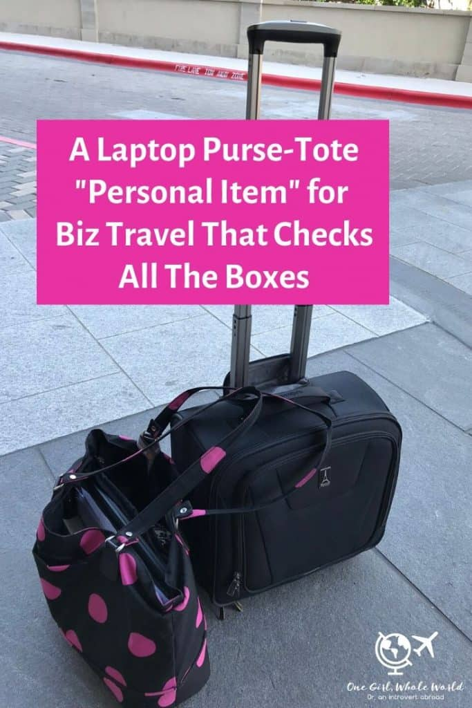 A Perfect Work Tote with Laptop Sleeve for Biz Travel | If you're looking for a laptop tote/purse combo that's perfect for biz travel, this is my absolute go-to! #biztravel #travelgear