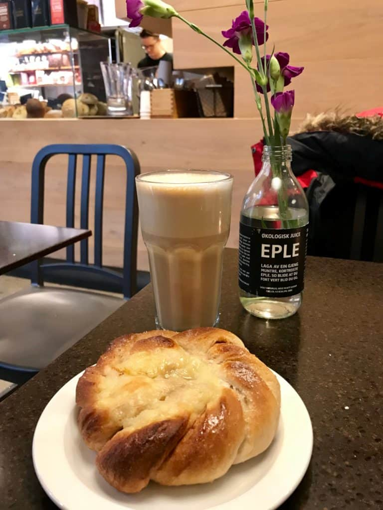 Where to eat in Bergen - pastries and coffee at Godt Brod