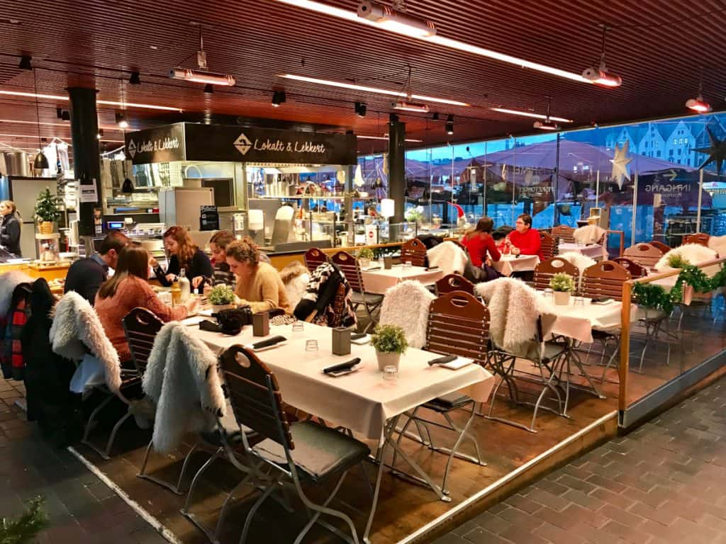 where to eat in Bergen - try out the fish market for fresh seafood