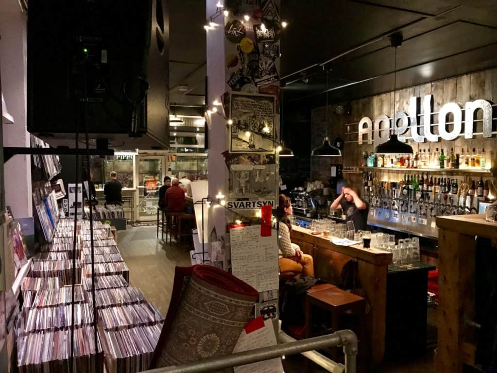 Where to drink in Bergen - Apollon is a cool bar in a record store