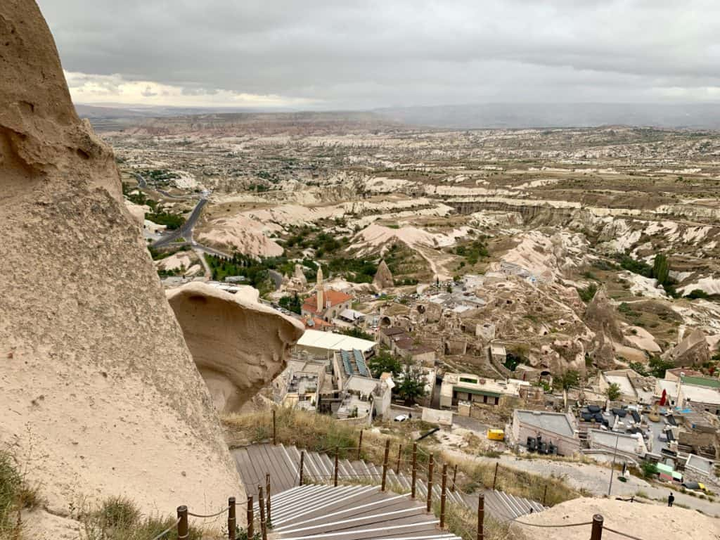 View from Uchisar Castle in Cappadocia
