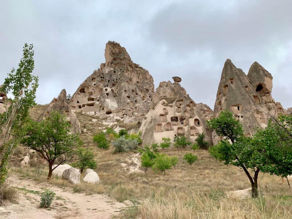 Caves and fairy chimneys at Cappadocia's Panoramic Viewpoint