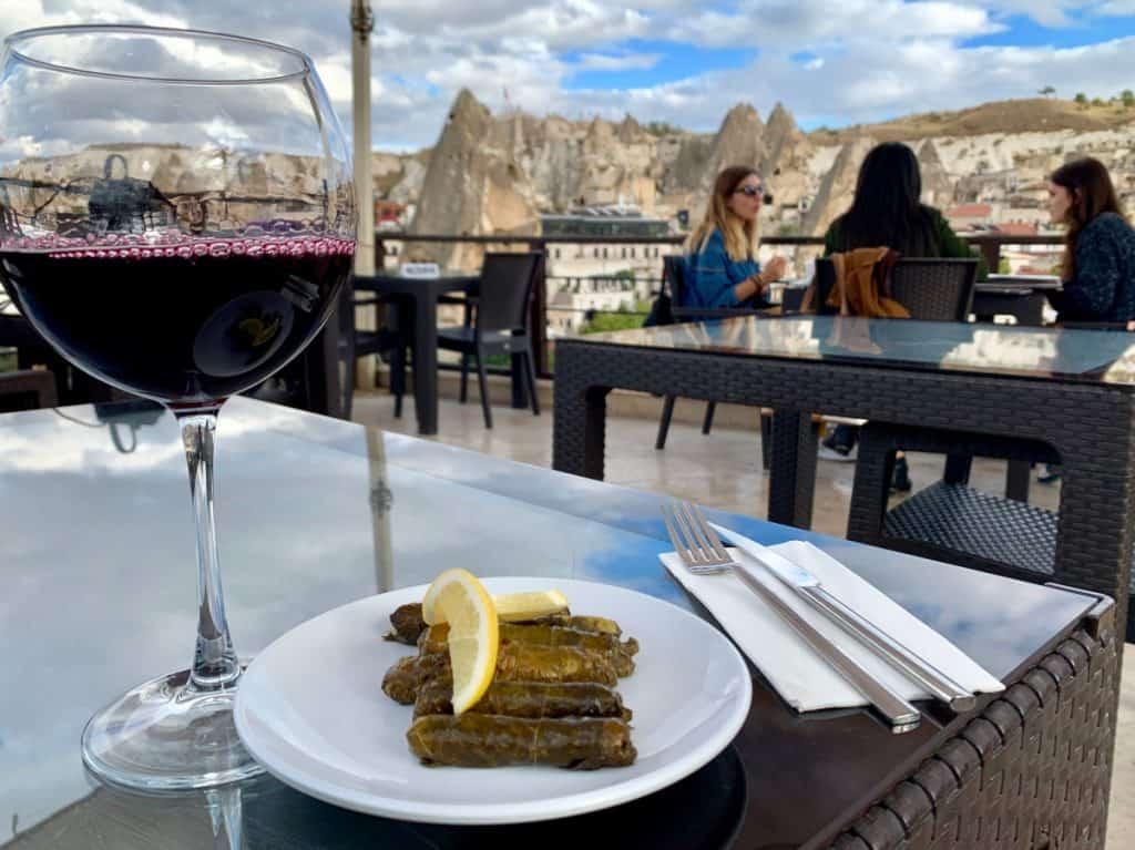 Rooftop views in Cappadocia