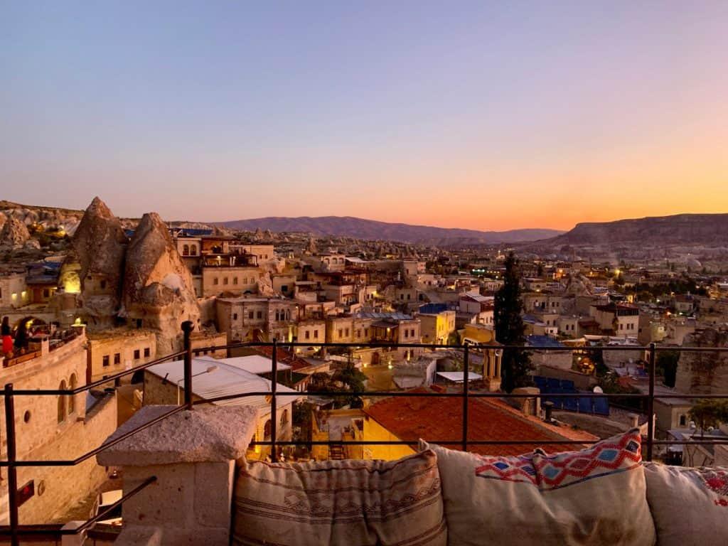 Sunrise from my hotel in Cappadocia