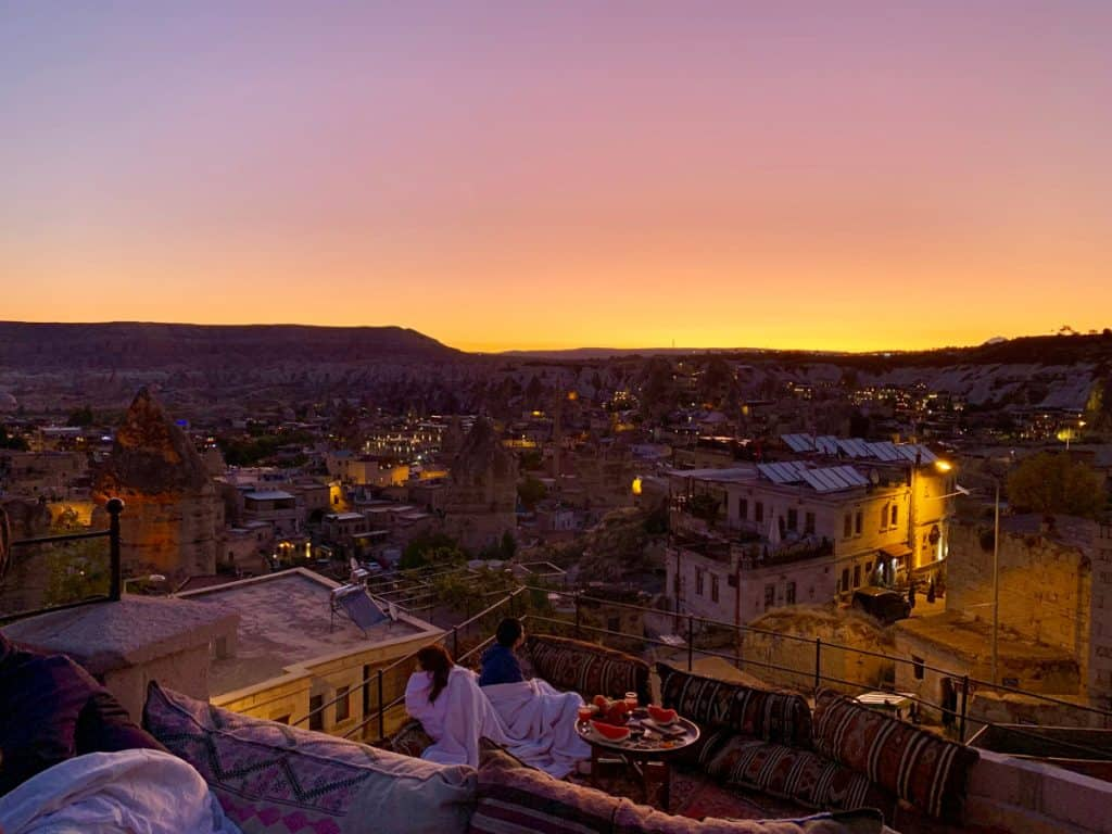 A stunning sunrise in Cappadocia