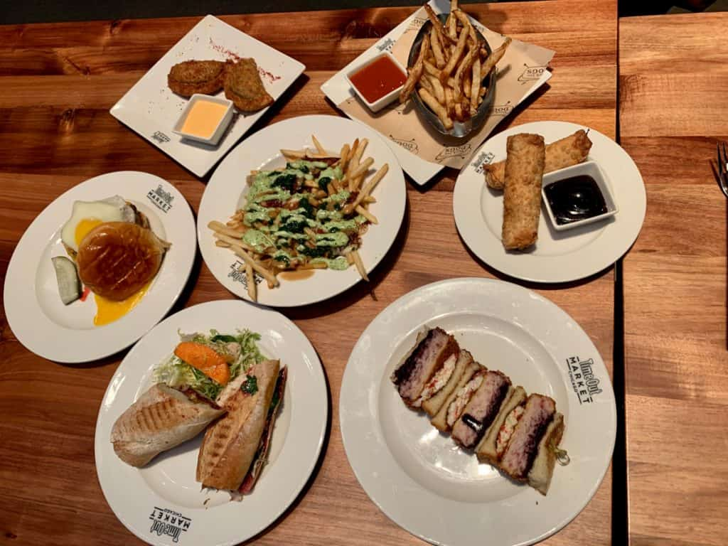 We managed to try a ton of dishes at Time Out Chicago - foodie heaven!
