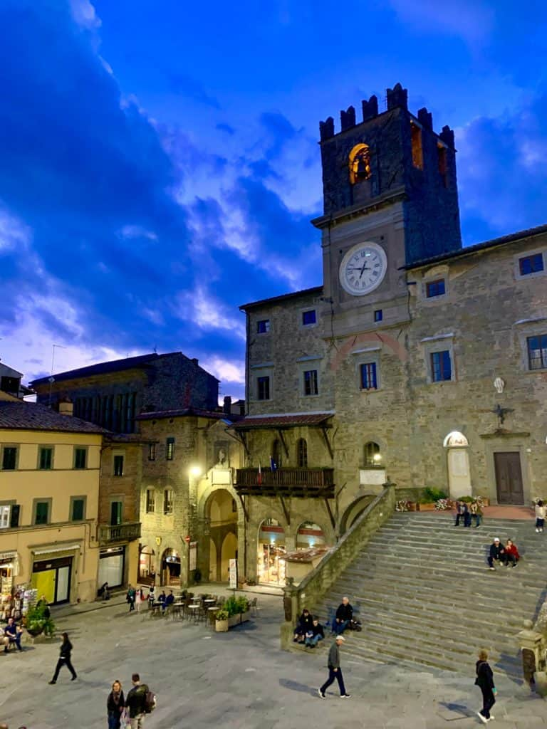 Twilight over the Palazzo Comunale, Cortona