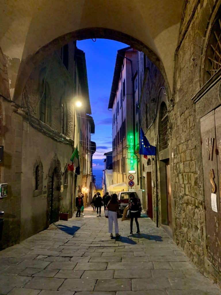 Twilight down the narrow streets