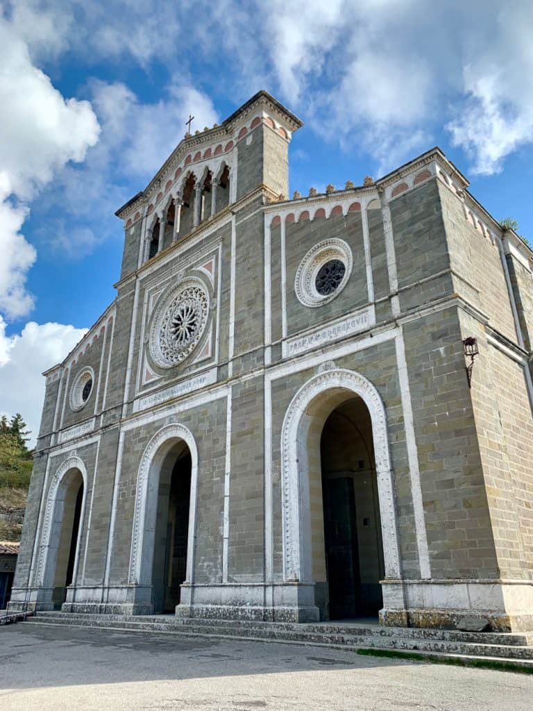 The Church of Santa Margherita sits above Cortona