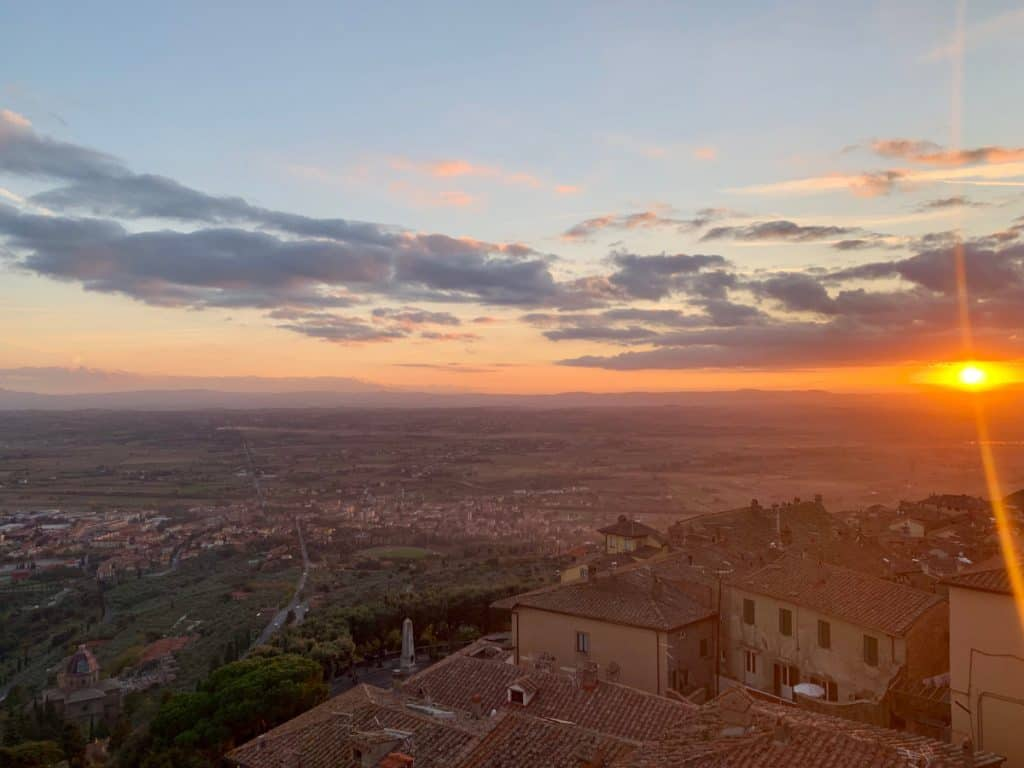Sunset from Cortona