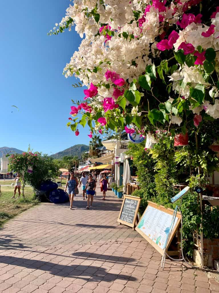 Walking the promenade in Oludeniz, Turkey