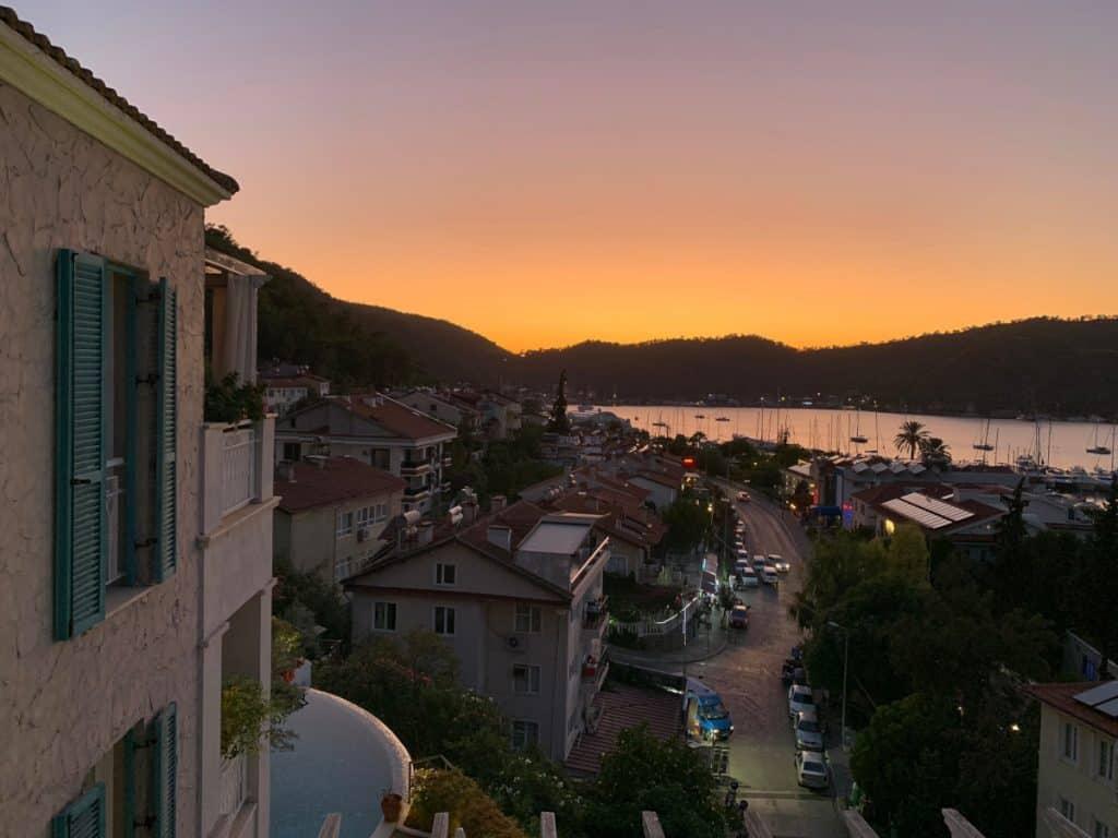 Sunset in Fethiye, Turkey