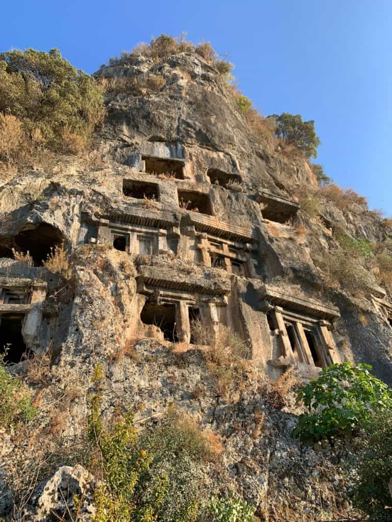 The Tomb of Amyntas in Fethiye...these ancient Lycian tombs are a must-see! What to do in Fethiye, Turkey