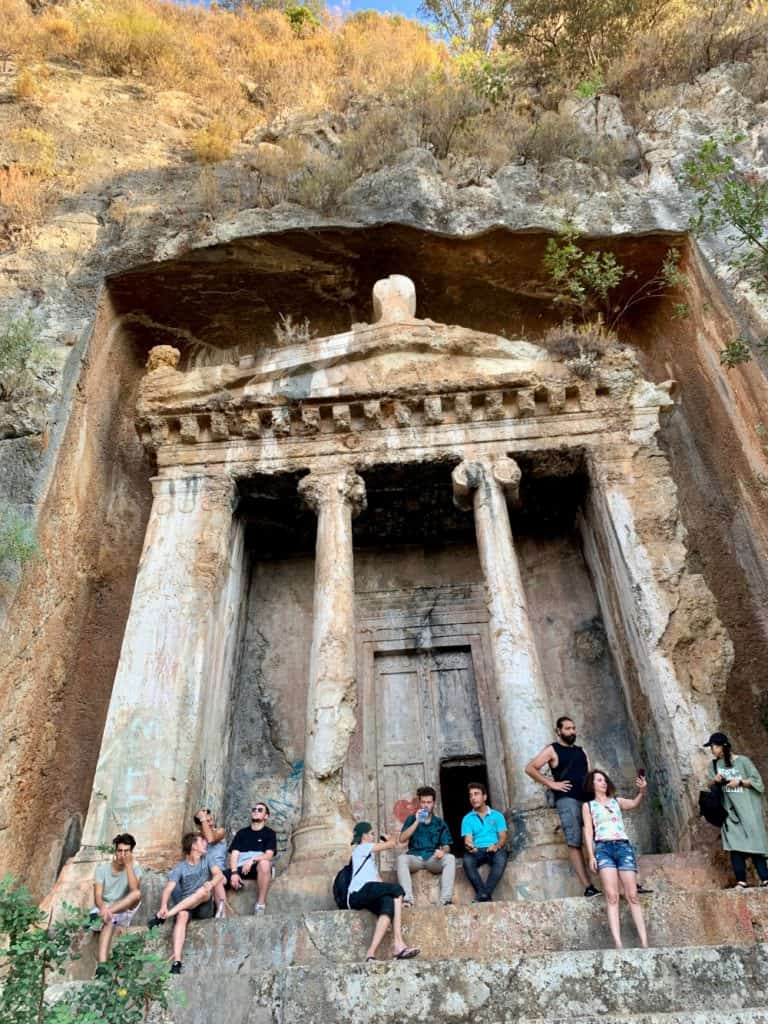 Visiting the Tomb of Amyntas in Fethiye