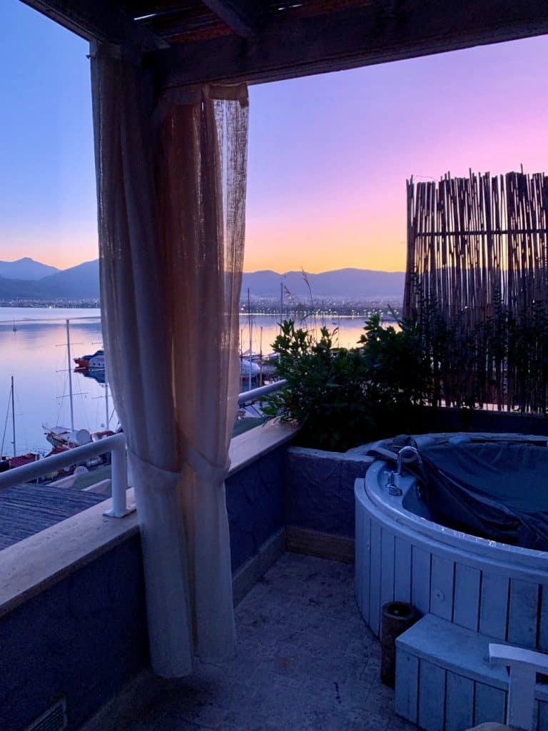 An amazing sunrise over Fethiye, Turkey