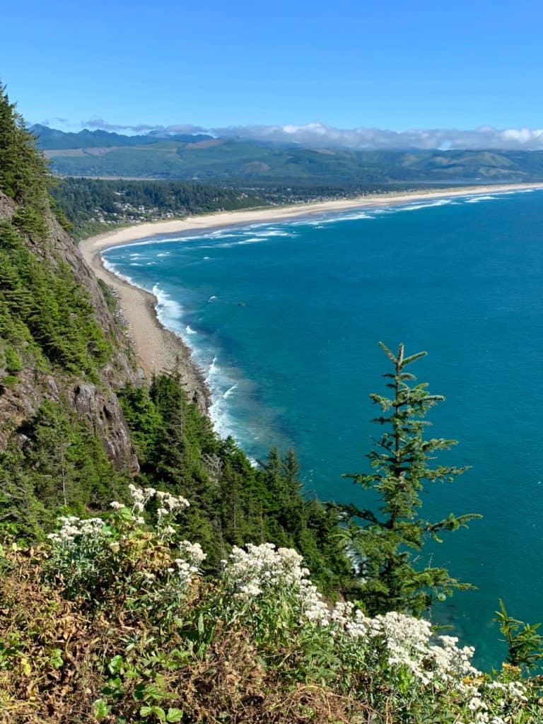 A beautiful highway pullout in Oswald West State Park - a must on an Oregon coast road trip itinerary