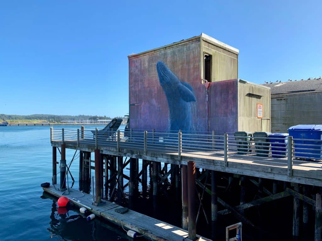 What to see on the Oregon coast - stop in pretty downtown Newport