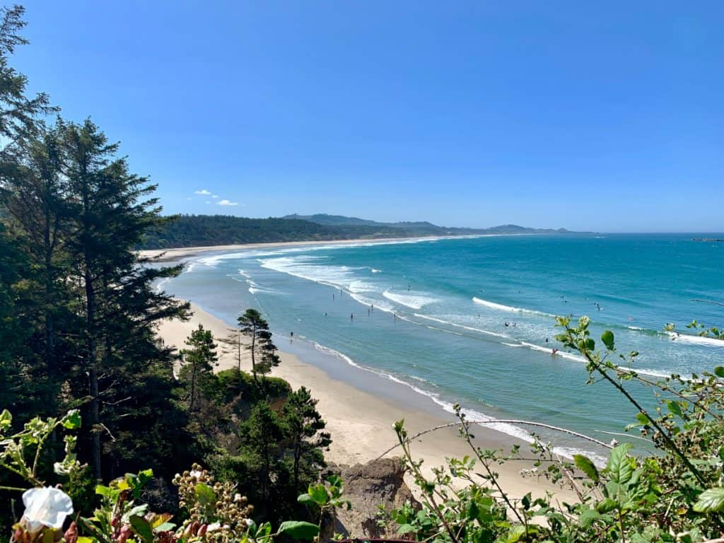 Gorgeous Beverly Beach from above - a must on an Oregon coast road trip itinerary