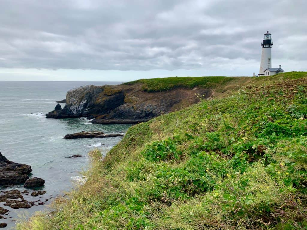Yaquina Head Lighthouse - a must on an Oregon coast road trip itinerary