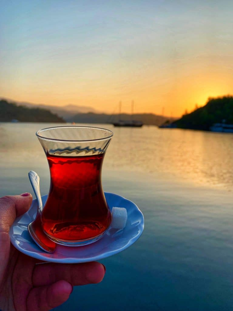 Turkish black tea & a beautiful sunrise - why you should sail in Turkey | One Girl, Whole World