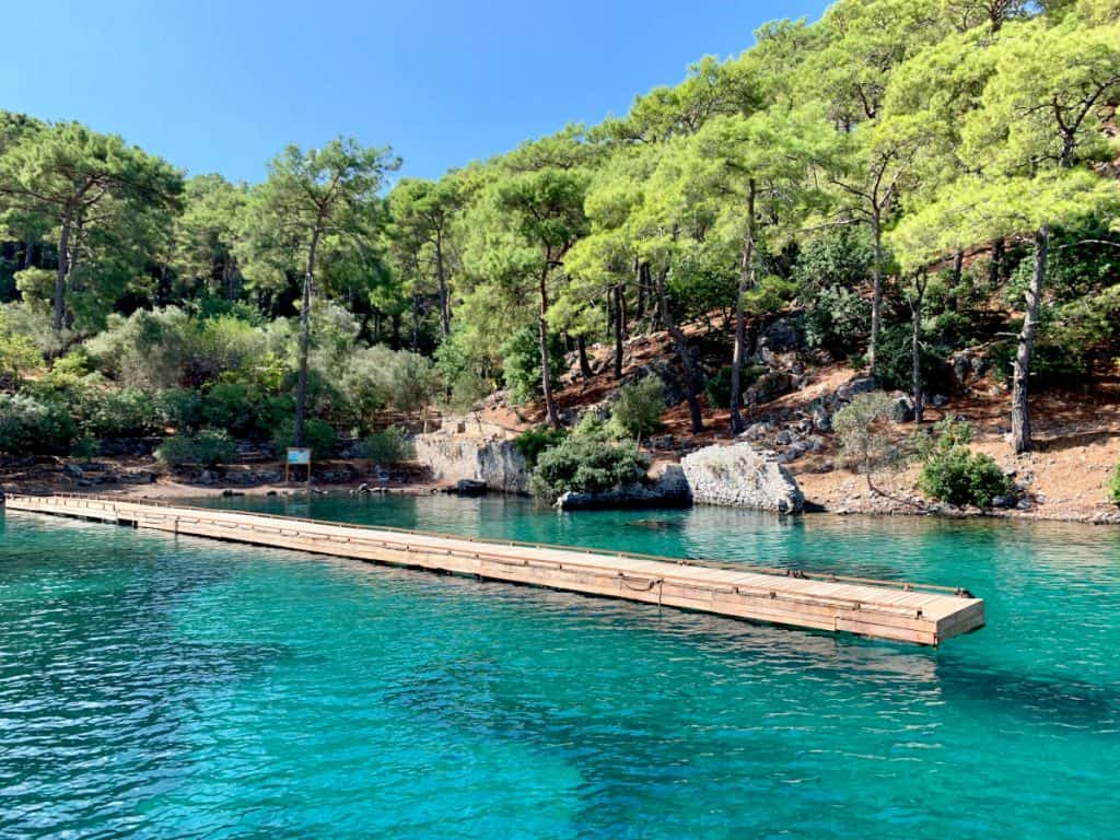 A 2-day boat trip in Turkey - Cleopatra Bath Island