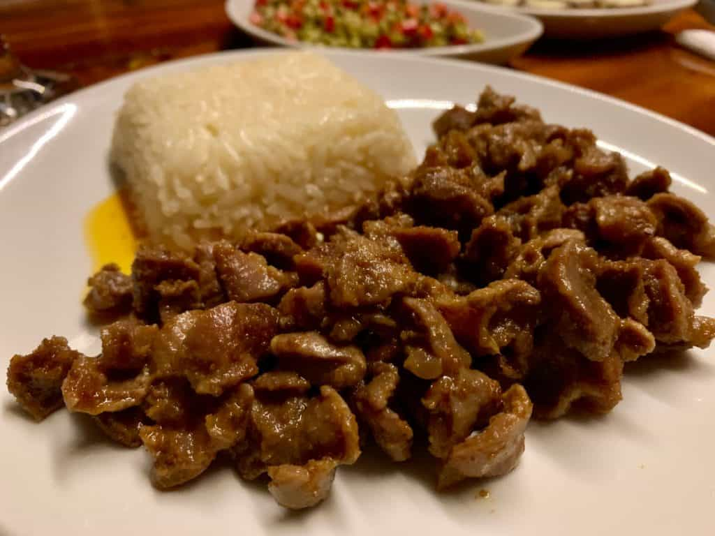 I ate like a king while sailing in Turkey - this is Meryam's spiced chopped beef