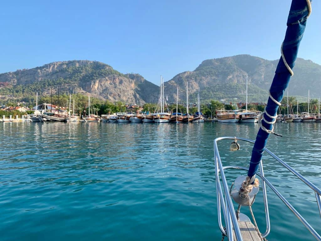 Cute Gocek marina on Turkey's Turquoise Coast