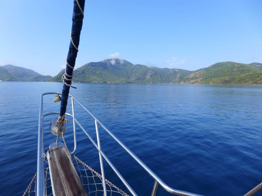 Sailing in Turkey - headed toward the Lycian tombs
