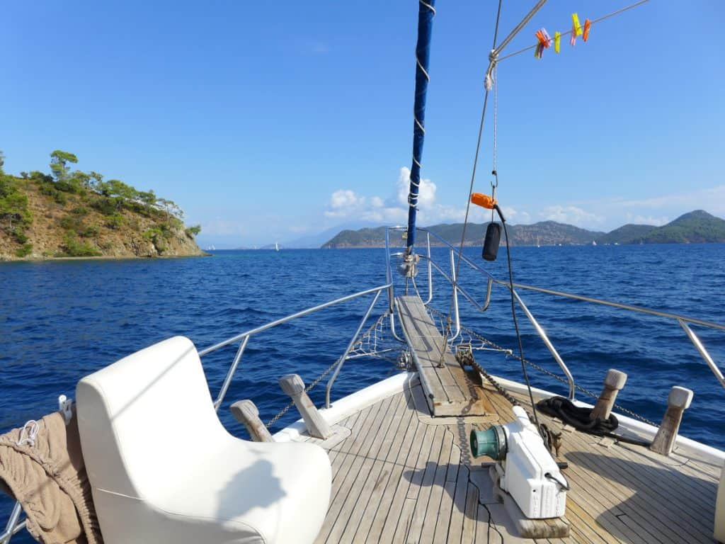 Perfect peaceful moments sailing in Turkey