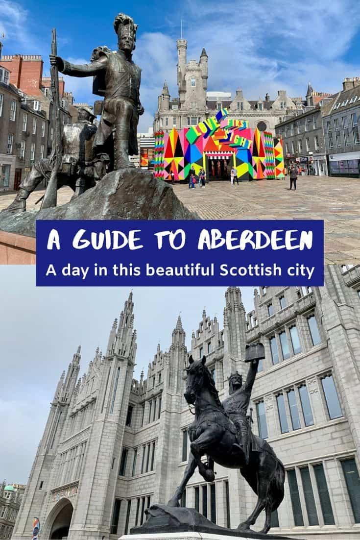 A Guide to Aberdeen, Scotland | How to spend a day or two in this charming Scottish city. Often overlooked in favor of Edinburgh or Glasgow, Aberdeen offers everything from beautiful historic buildings to a great foodie scene to some of the best street art in the world. Things to do in Aberdeen, visiting Aberdeenshire! #scotland #ukroadtrip #aberdeen