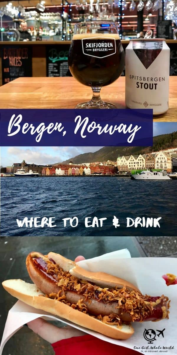 Where to Eat & Drink in Bergen, Norway | Recommendations for restaurants, coffee shops, and bars in this charming Scandinavian city! Delicious fresh food, wonderful pastries, and a great cocktail and craft beer culture, what to do in Bergen, Bergen restaurant ideas as well as Bergen nightlife! #bergen #norway #scandinavia
