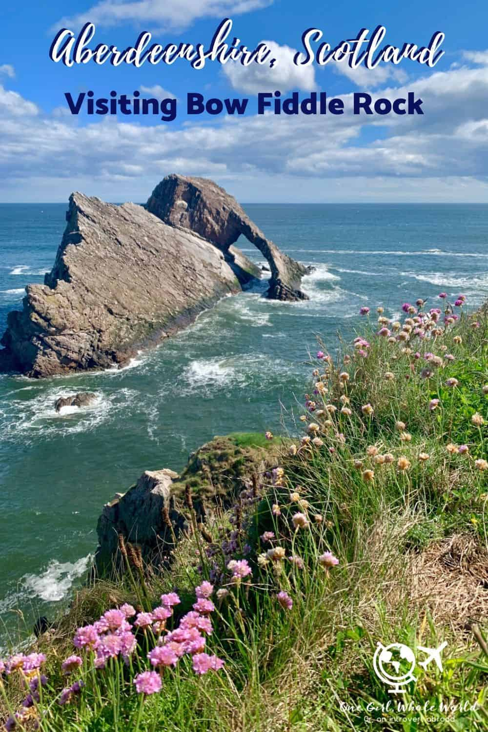 Visiting Bow Fiddle Rock in Aberdeenshire, Scotland | This beautiful rock formation on the gorgeous Scottish coast is a must if you're visiting the Aberdeenshire (or Speyside, Moray, etc.) area. How to plan your visit! #scotland #ukroadtrip #aberdeen