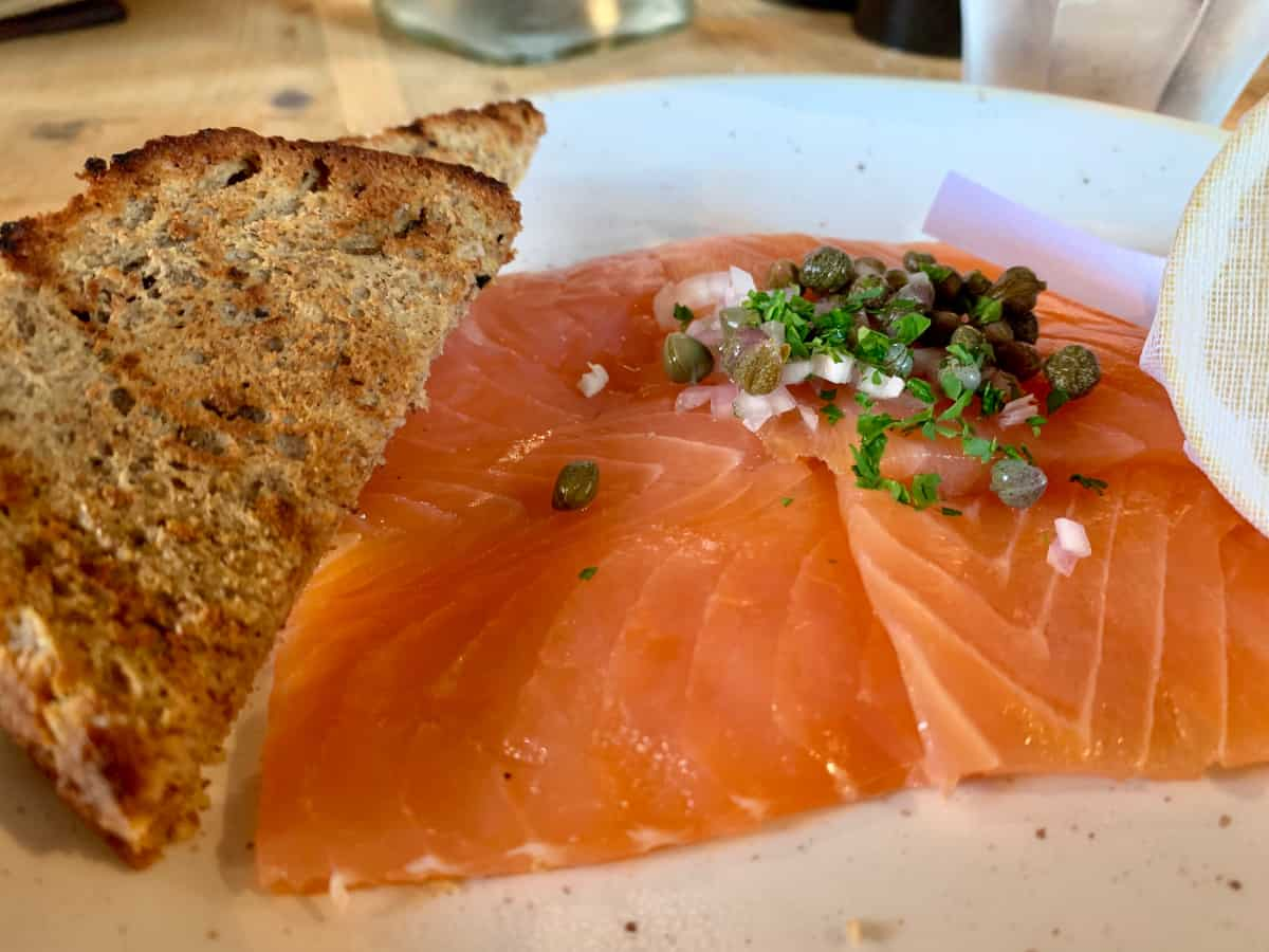 Delicious local smoked salmon at the Craigellachie Hotel