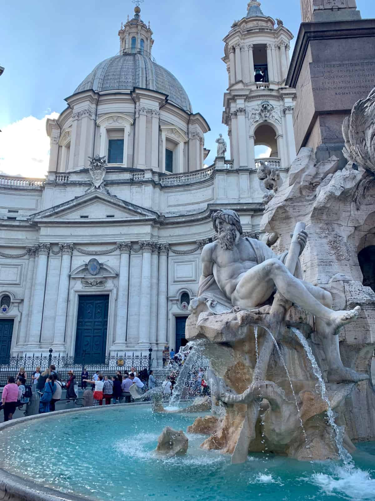 The famous fountain at Piazza Navona...one of the best photo spots in Rome
