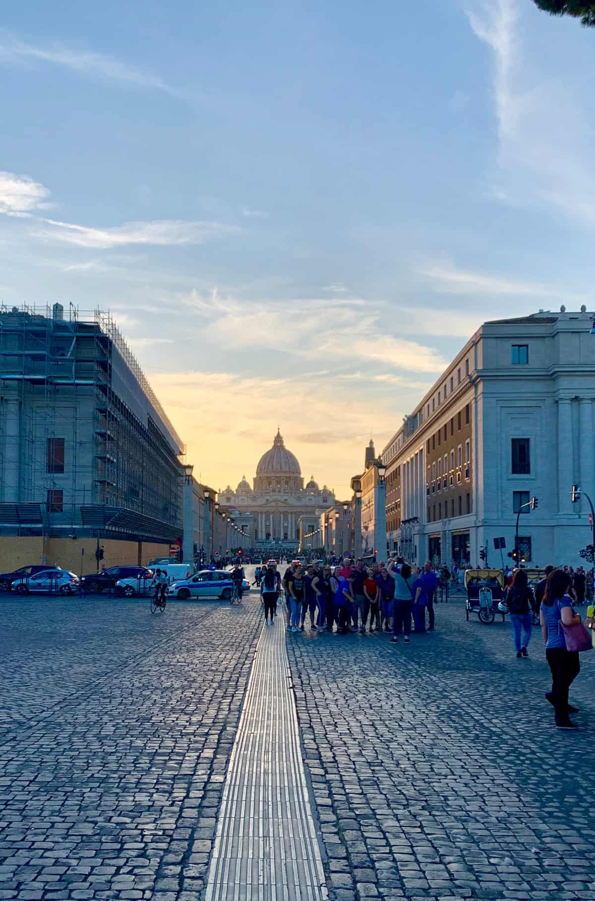 Head toward St. Peter's at sunset...the best photo spots in Rome