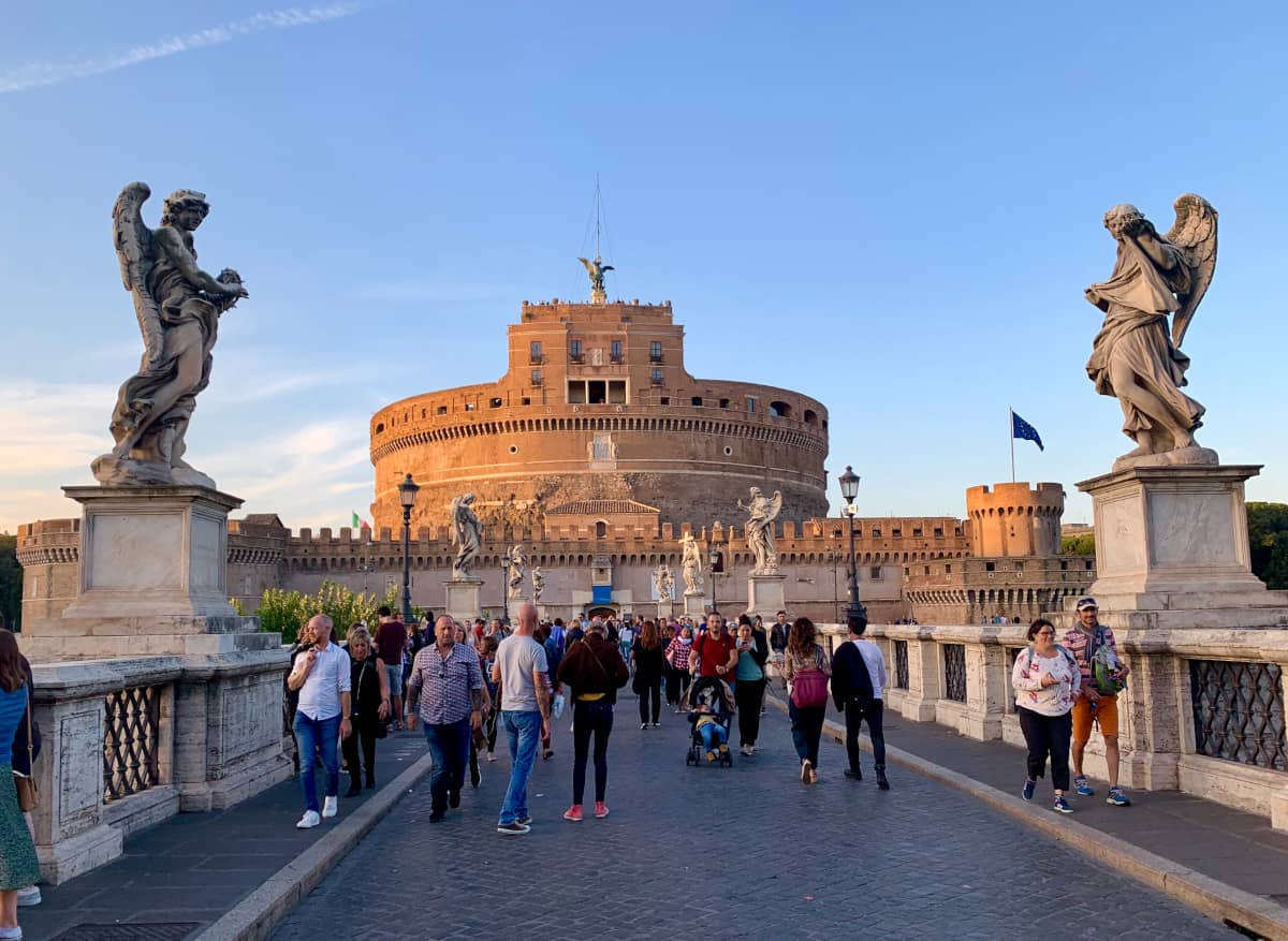 Sunset at Castel Sant'Angelo...one of the best photo spots in Rome (and times!)