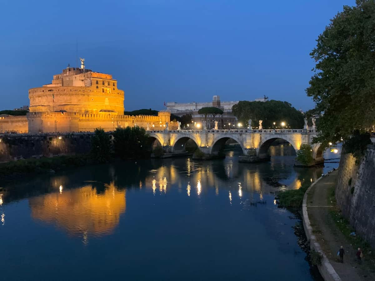 Castel Sant'Angelo at night...nighttime is a great time to snap one of the best photo spots in Rome